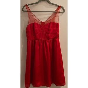 Red Silky American Eagle Dress